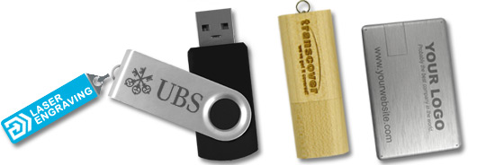 laser engraving of usb flash drives